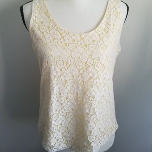 Cynthia Rowley Lemon and Lace Tank